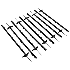 Oypla 1m Black Plastic Electric Temporary Fence Fencing Pins Posts Stakes Pack Of 10 Buy Products Online With Ubuy Kuwait In Affordable Prices B07j6p1hk5