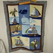 nojo ahoy mate crib bedding blue pirate