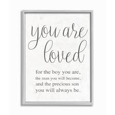 The Kids Room By Stupell You Are Loved Framed Wall Art By Daphne Polselli Walmart Com Walmart Com