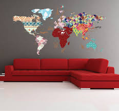 Cultural World Map Decal Pattern Map Wall Decal Clear Vinyl Decal Nursery Room Decals World Map Mural Whole Wide World Decal Map Wall Decal World Map Mural Nursery Room Decal