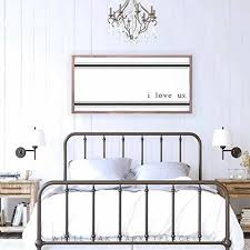 metal wall decor above love signs sign