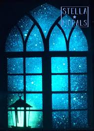 Arched Window With Lantern Mural Star Window Decal Etsy