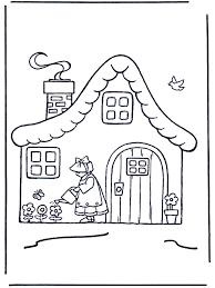 Vrouw Bij Huisje Kleurplaat Huizen