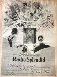 Publicidad de RADIO SPLENDID, RIVADAVIA y MAYO, Buenos Aires, 1933 ...