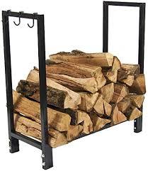 sunnydaze log rack firewood holder