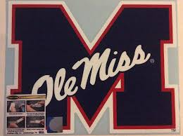 Amazon Com Craftique Ole Miss Rebels Large Die Cut Vinyl Decal Cornhole Boards Auto Sports Outdoors