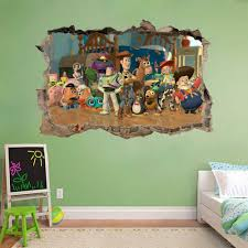 Toy Story Woody Buzz Lightyear Smashed Wall Decal Wall Sticker Art Mural H989 For Sale Online