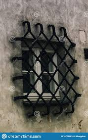 Diamond Line Window Fence And A Small Window Stock Photo Image Of Ironworks Exterior 167784824