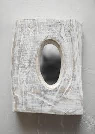 handcrafted wooden mirror