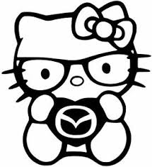 Mazda Zoom Zoom Hello Kitty Vinyl Car Window Decal Sticker 13 Colors Ebay