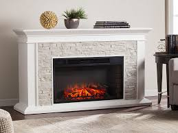 canyon heights white electric fireplace