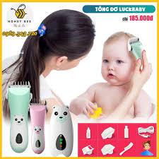 Tông đơ cắt tóc sơ sinh, cắt tóc trẻ em 0-15 tuổi Lukbaby cắm sạc ...