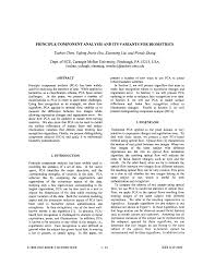 Principle component analysis and its variants for biometrics - Image  Processing. 2002. Proceedings. 2002 International Conferenc