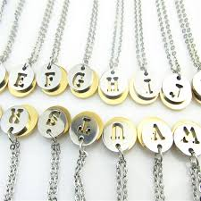 necklace stainless steel gold silver