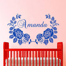 Name Wall Decals Girl Decal Personalized Vinyl Stickers Home Nursery Decor Cc94 Ebay