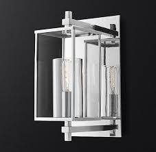 devaux sconce sconces glass boxes