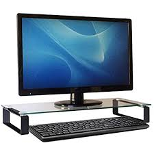 computer monitor stand desk shelf