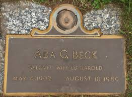 Ada G Beck (1902-1989) - Find A Grave Memorial