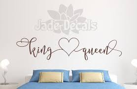 King And Queen Decal Master Bedroom Decal Headboard Decal Her King His Queen