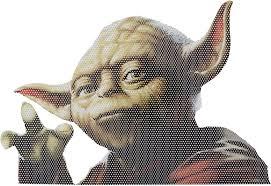Amazon Com Fanwraps Star Wars Classic Yoda Passenger Series Perforated Vinyl Window Decal Toys Games