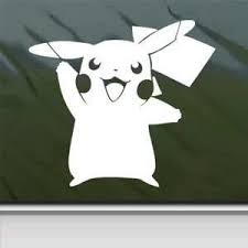 Amazon Com Pokemon White Sticker Decal Pikachu Card Game White Car Window Wall Macbook Notebook Laptop Sticker Decal By Faststicker Computers Accessories