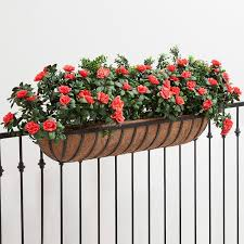English Garden Hayrack Railing Planter Choose From 6 Sizes And Railing Width Railing Planter Boxes Pots Planters
