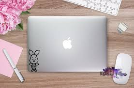 Super Cute Piglet Pooh Bear Inspired Cutie Macbook Car Window Laptop Vinyl Decal Sticker