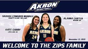 Akron Women's Basketball Inks Three To National Letters Of Intent -  University of Akron Athletics