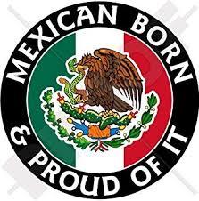 Amazon Com Mexico Mexican Born Proud 100mm 4 Vinyl Bumper Sticker Decal Automotive