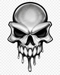 skull drawing tattoo head skeleton png