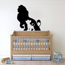 Lion King Baby Room Wall Decals For Boys Cartoon Wall Sticker Room Decorative Kids Room Stickers Family Girls Mural Room B523 Wall Stickers Aliexpress