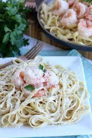 garlic er shrimp with creamy sauce
