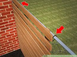 Wood Fence Panels Attached To Chain Link Woodsinfo