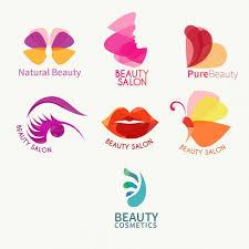 cosmetics logo free vectors stock