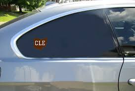 Cle Cleveland Ohio Brown Sticker U S Custom Stickers