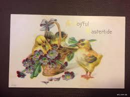 Старинные пасхальные открытки из одной серии