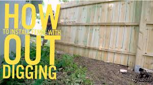 How To Install Wood Panel Fence With Out Digging Youtube