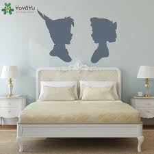 Peter Pan Wendy Sillouette Wall Decal Master Bedroom Vinyl Wall Stickers For Kids Rooms Removable Playroom Headboard Decor Sy273 Sticker For Kids Room Vinyl Wall Stickerswall Stickers For Kids Aliexpress