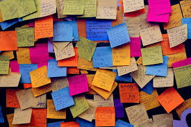 hd wallpaper orted color post it