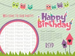 Birthday Invitation Card Template Card Design Template