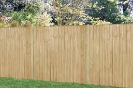 6ft X 5ft 1 83m X 1 54m Pressure Treated Featheredge Fence Panel Forest Garden