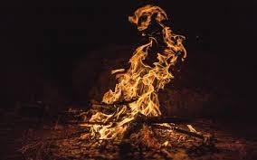 تحميل خلفيات نار 4k النار ليلة الغابات لهيب النار عريضة