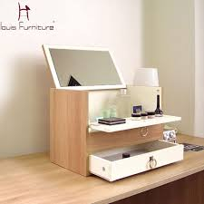 portable makeup chest with mirror