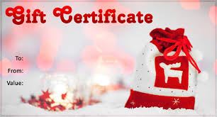 Image result for christmas gift certificate images