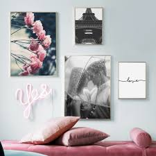 rose love wall art canvas painting