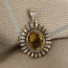 large stone pendant silver jewellery uk