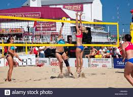 Lizzie smith leaps in defense in beach volleyball final at Great ...