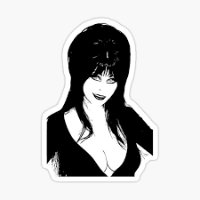 Elvira Sticker By Katsmitharts Redbubble