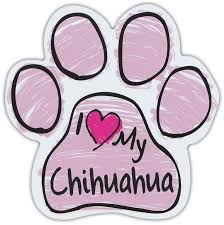 Pink Scribble Paws I Love My Chihuahua Dog Paw Shaped Car Magnets Walmart Com Walmart Com