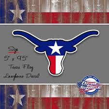 Texas Flag Longhorn Decal 5x 9 5 Car Window Decal Etsy